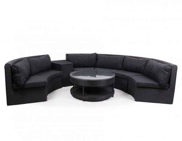 lounge havemøbelsæt i polyrattan
